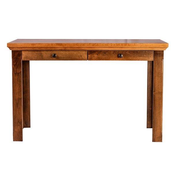 Mckinnon 60 W Knob Drawer Writing Desk by Loon Peak