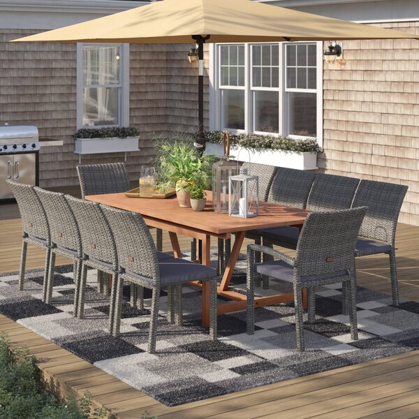 Brighton 11 Piece Dining Set with Cushions by Sol 72 Outdoor