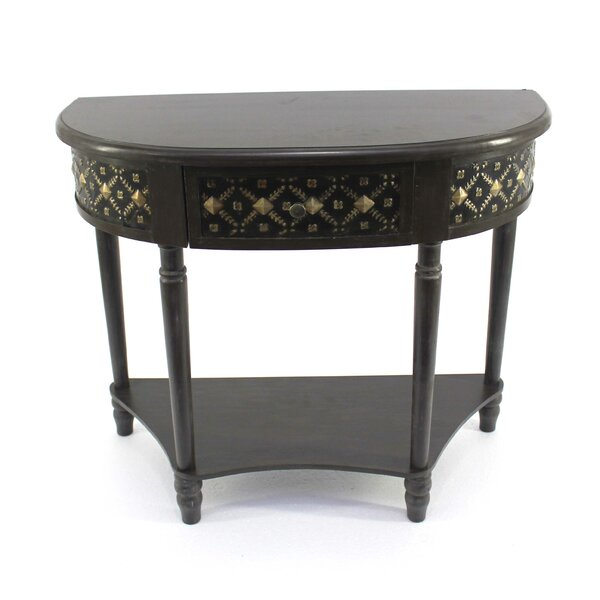 Fuentes Half-Moon Console Table By Alcott Hill