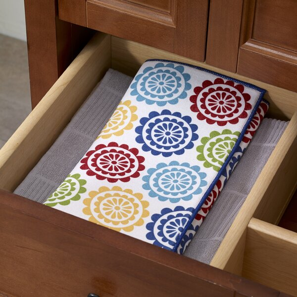 Medallion Reversible Print Dish Drying Mat (Set of 2) by T-fal