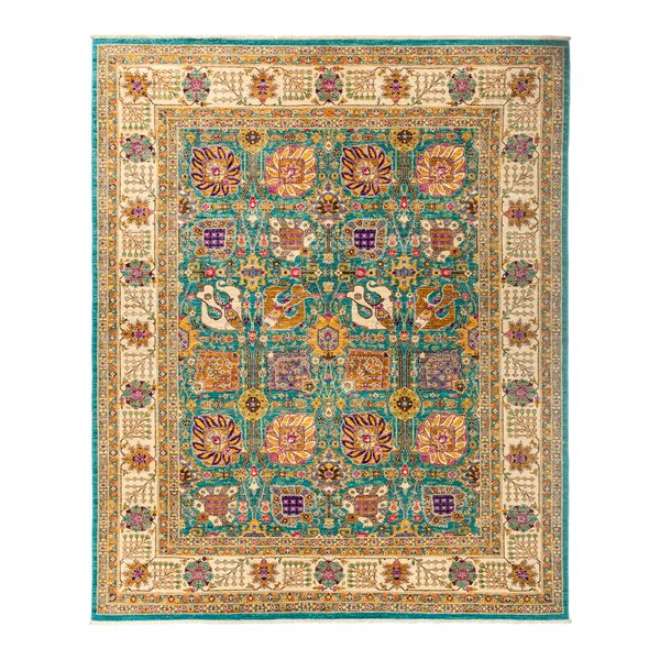 One-of-a-Kind Eclectic Vivid Hand-Knotted Multicolor Area Rug by Darya Rugs