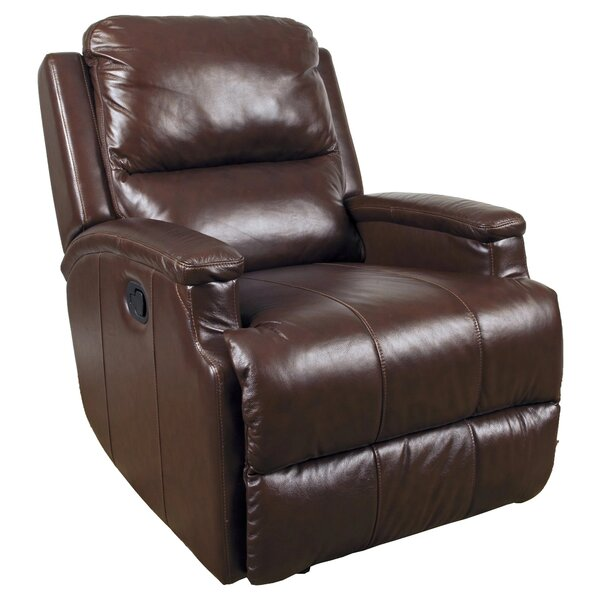 Kirstin Leather Manual Glider Recliner By Ebern Designs