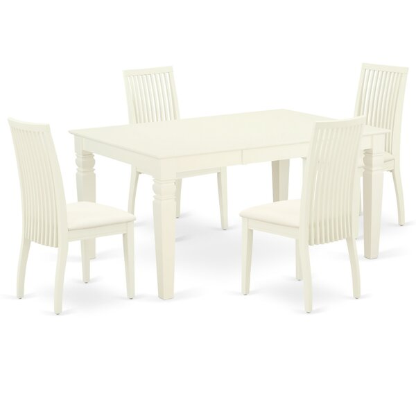 Blaurock 5 Piece Extendable Solid Wood Dining Set by Winston Porter Winston Porter