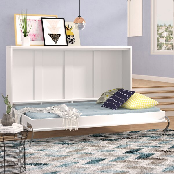 Clearwater Twin Murphy Bed with Mattress by Brayden Studio