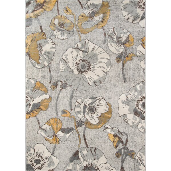 Cherell Floral Gray Area Rug by Willa Arlo Interiors