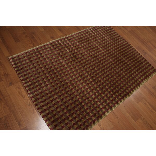One-of-a-Kind Wheatley Hand-Knotted Wool Brown Area Rug by Loon Peak