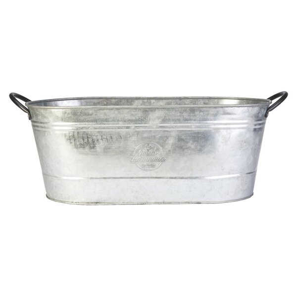 16 Oval Washtub Metal Planter by Panacea Products
