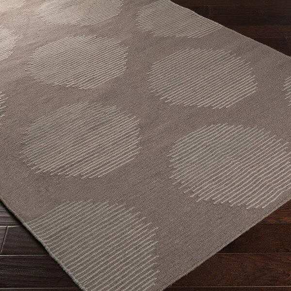 Donley Charcoal Gray Geometric Area Rug by Wrought Studio