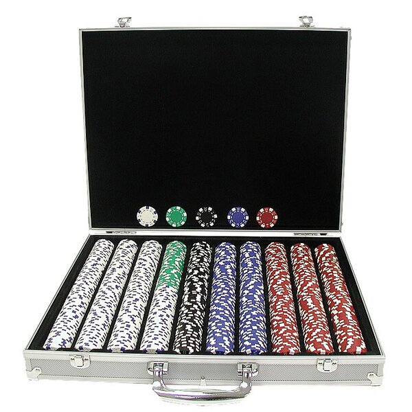 Dice-Striped Poker Chip by Trademark Global