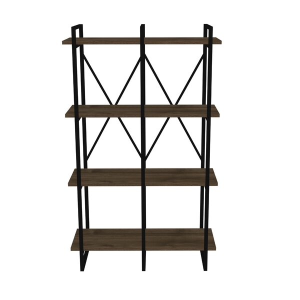 Strange Seperator Metal Framed 4-Shelf Etagere Bookcase By Gracie Oaks
