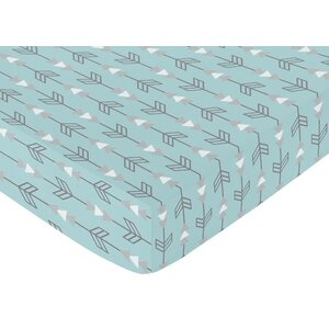 Arrow Earth and Sky Print Fitted Crib Sheet
