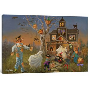 'Spooky Halloween' Painting Print on Canvas by East Urban Home