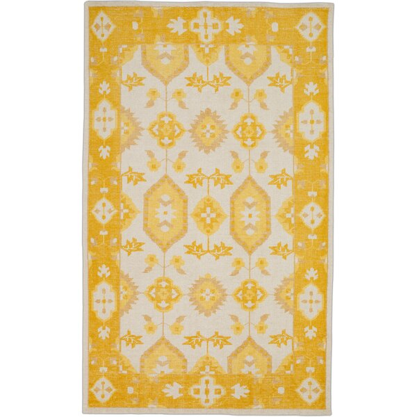 Drachten Burnt Orange/Beige Area Rug by Bungalow Rose