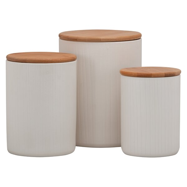 Embossed Speckled 3 Piece Kitchen Canister Set by Gracie Oaks