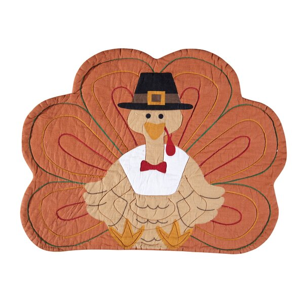 Thanksgiving Turkey Placemat (Set of 6) by C&F Home