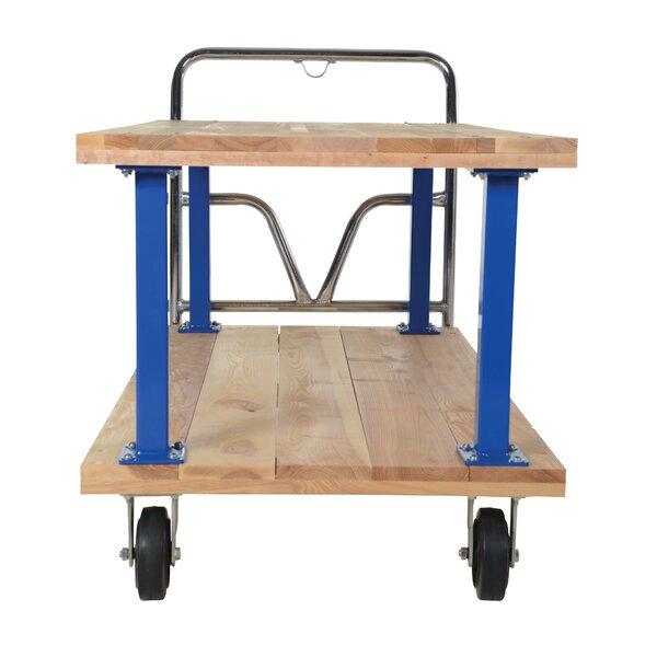 Double Deck Platform Utility Cart by Vestil