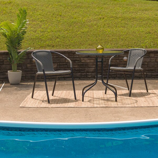 Wabbaseka 3 Piece Bistro Set by Zipcode Design