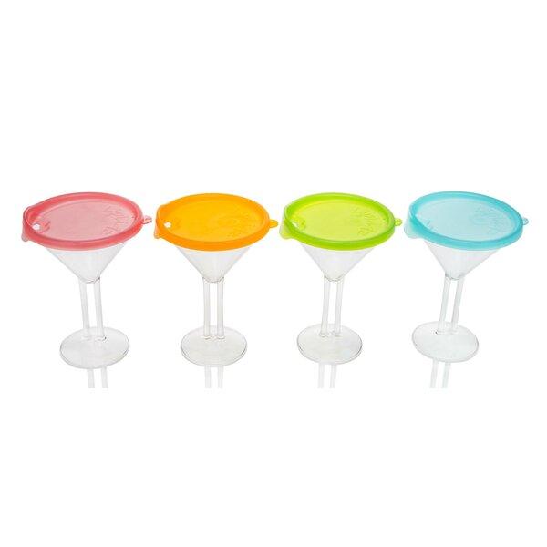 10 oz. Plastic Cocktail Glass (Set of 4) by LipLidz
