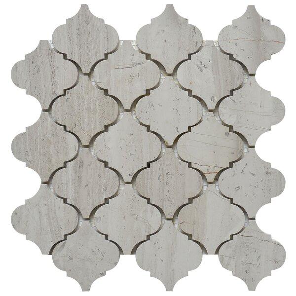 Lantern 3 x 3 Marble Mosaic Tile in White Oak by Matrix Stone USA