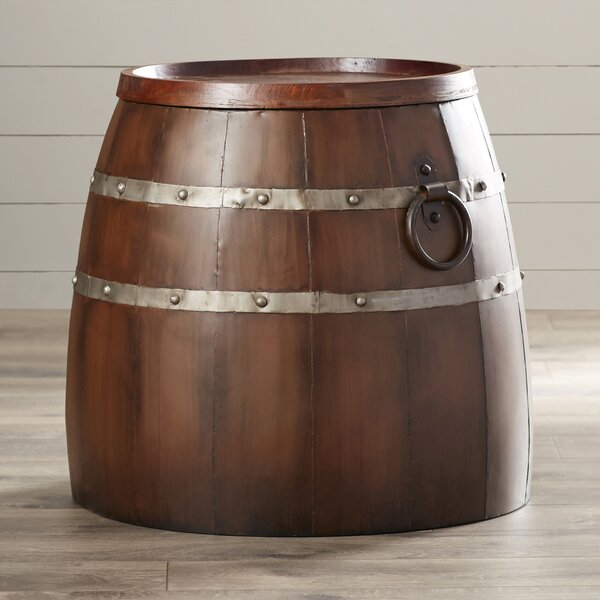 Leila Wine Barrel End Table by August Grove August Grove