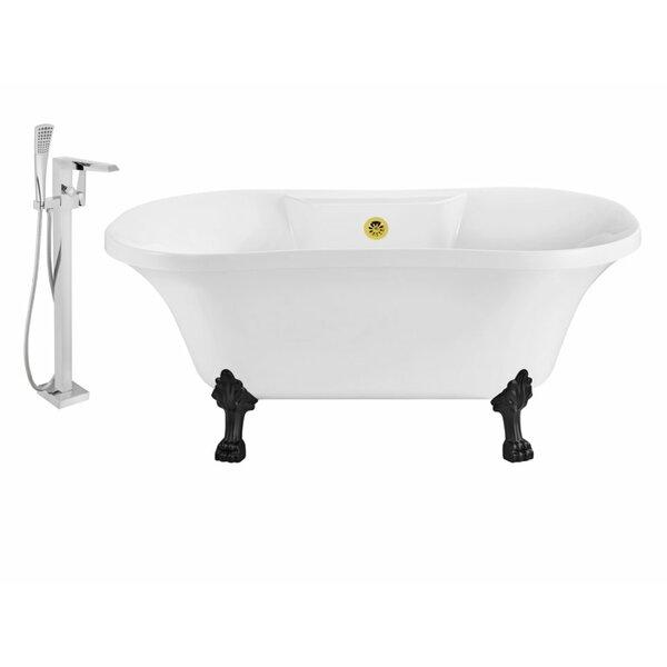 60 x 32 Clawfoot Soaking Bathtub by Wildon Home ®