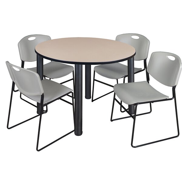 Leiser 5 Piece 48 Round Breakroom Table Set by Symple Stuff