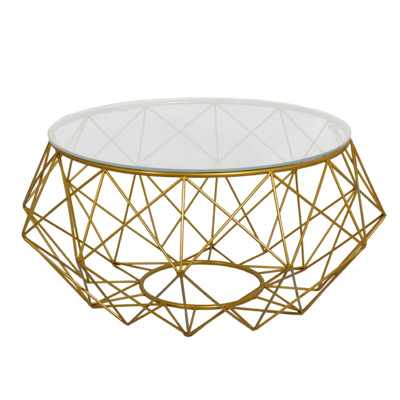 Fashion N You Diamond Wire Coffee Table & Reviews | Wayfair