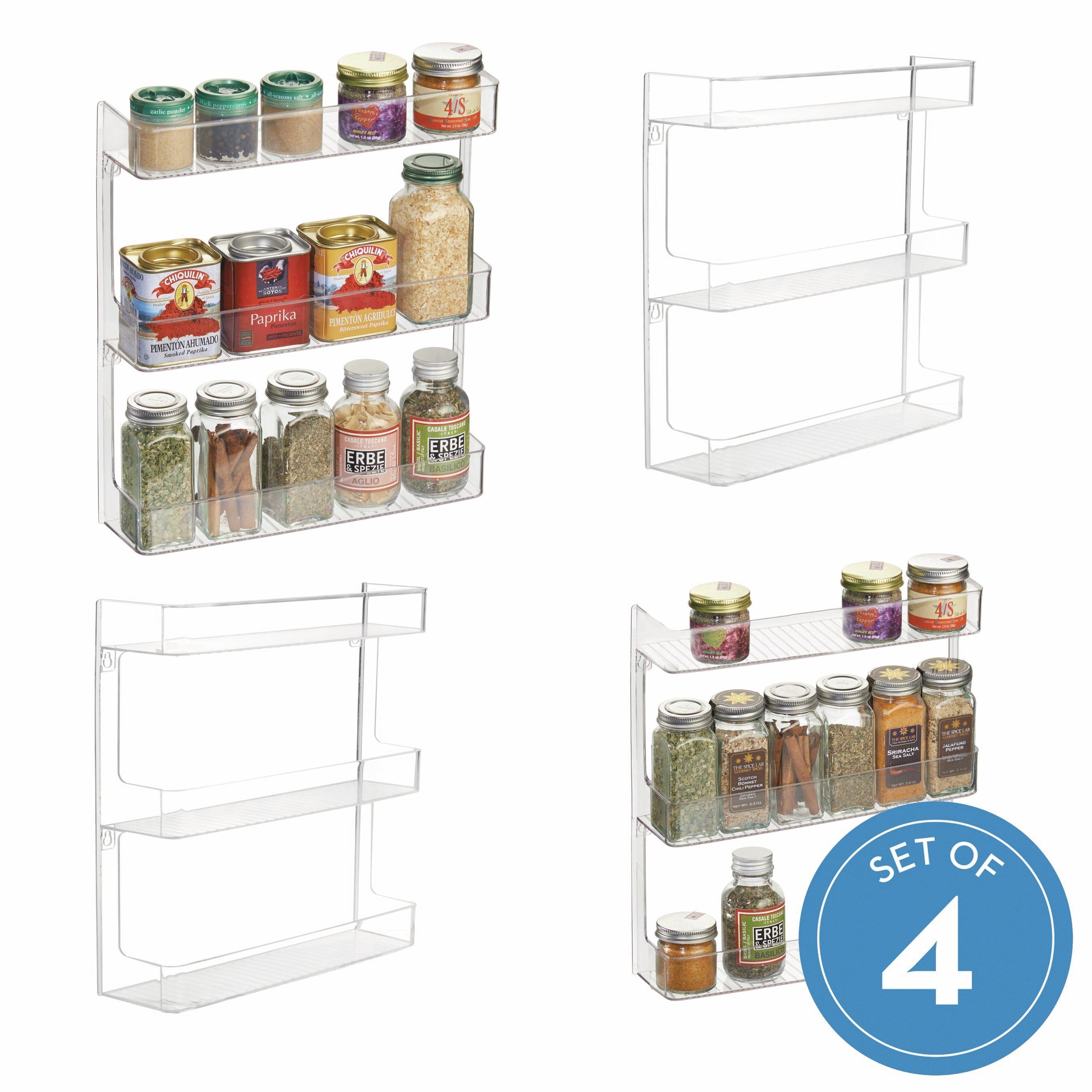 Home Furniture Diy 3 Tier Wall Mounted Kitchen Cupboard Spice Jar Rack Storage Holder Organiser Na Ribe Dk