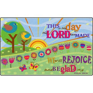 This Is The Day Lord Has Madegreen Area Rug