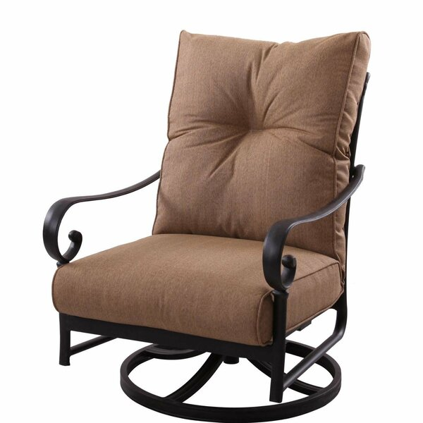 Santa Anita Swivel Club Chair with Cushions by K&B Patio