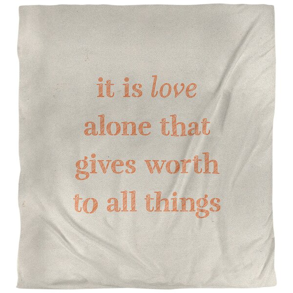 Love Inspirational Quote Single Duvet Cover