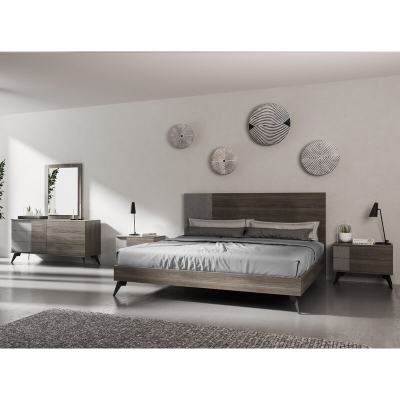 Ivy Bronx Bayport Modern Platform 5 Piece Bedroom Set Reviews Wayfair