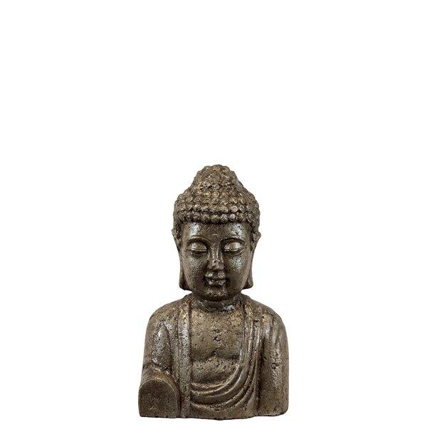 Elegant Ceramic Buddha Bust by Woodland Imports