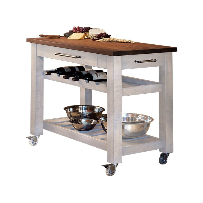 mobile kitchen island. Metro Mobile Kitchen Island with Solid Walnut Top Martins Homewares