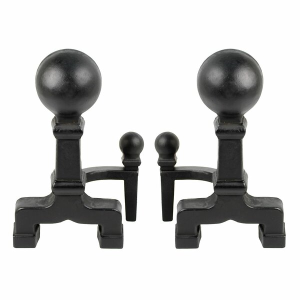 Decicco Ball Andirons By Symple Stuff