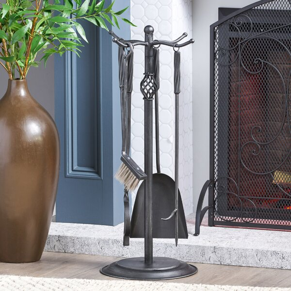 Fort 5 Piece Iron Fireplace Tool Set By Home Loft Concepts
