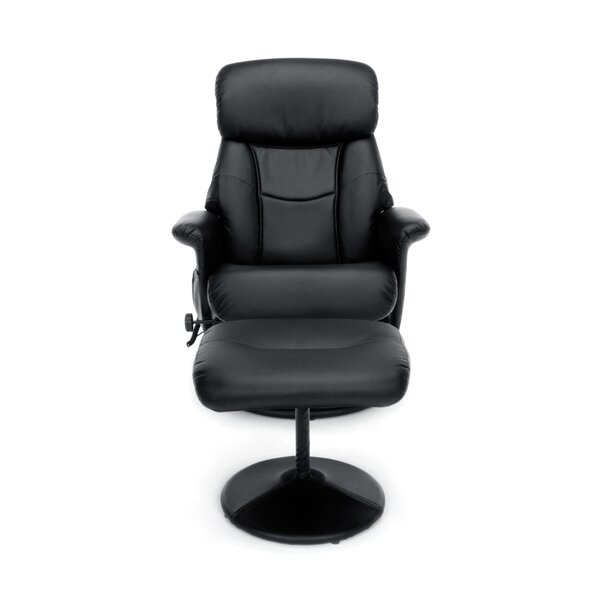 Essentials Heated Massage Executive Chair with Ottoman by OFM