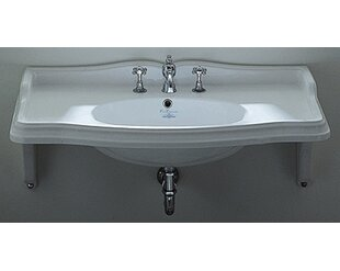 Reviews China Ceramic 36 Wall Mount Bathroom Sink with Overflow By Whitehaus Collection