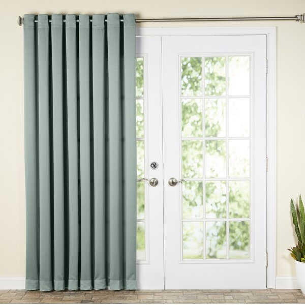 Wayfair Basics Solid Room Darkening Thermal Grommet Single Patio Curtain Panel by Wayfair Basics™
