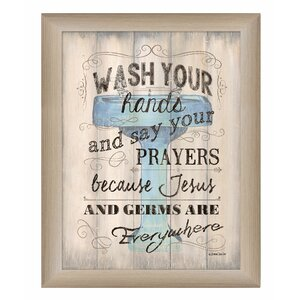 'Wash your Hands' Framed Textual Art by Trendy Decor 4U