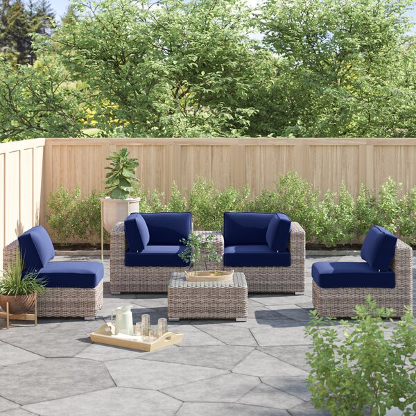 Lazaro 6 Piece Sectional Seating Group with Sunbrella Cushions by Sol 72 Outdoor Sol 72 Outdoor