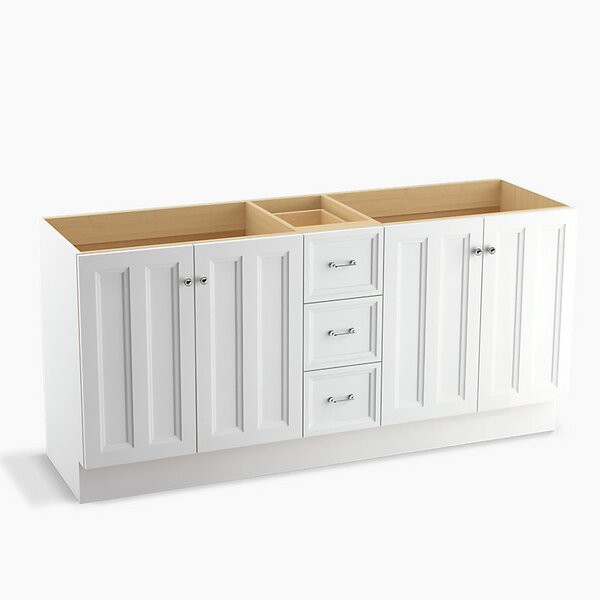 Damask™ 72 Vanity with Toe Kick, 4 Doors and 3 Drawers, Split Top Drawer by Kohler