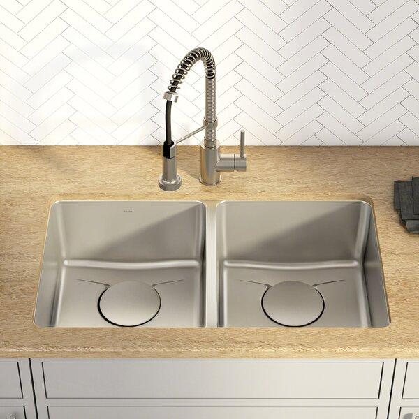 Dex™ Series 33 x 19 Double Basin Undermount Kitchen Sink by Kraus