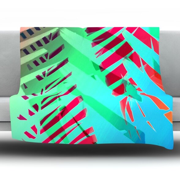 Cool Tropical by Alison Coxon Fleece Throw Blanket by East Urban Home