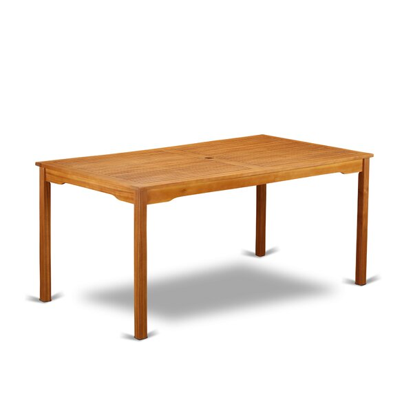 Deonte Solid Wood Dining Table by Longshore Tides
