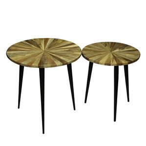 Andes 2 Piece Side Table Set (Set of 2) by Foundry Select