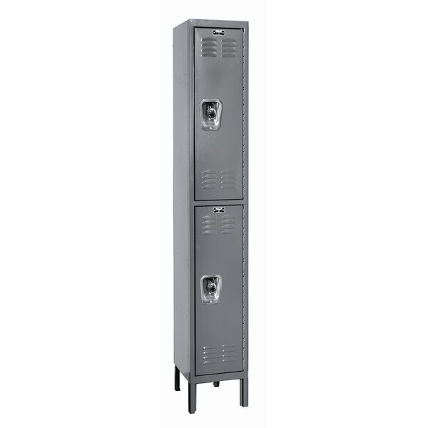 ReadyBuilt 2 Tier 1 Wide School Locker by Hallowell