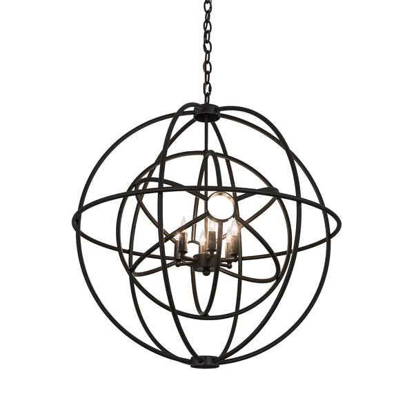 6 - Light Unique / Statement Globe Chandelier by Meyda Tiffany Meyda Tiffany