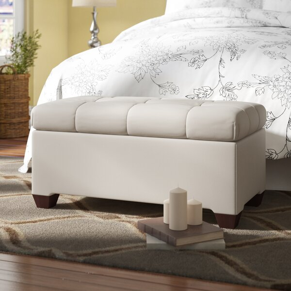 Velvet Upholstered Storage Bench by Alcott Hill