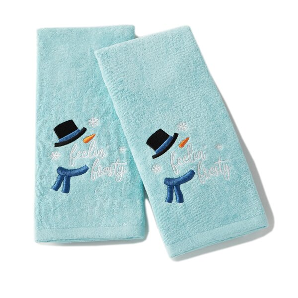 Briggs Feeling Frosty Cotton Hand Towel (Set of 2) by The Holiday Aisle